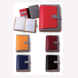 Agenda portafoglio in similpelle bicolore con la stampa del logo della tua azienda,  Art. A51