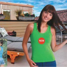 Maglietta Donna colorata Art. 855 con la stampa del tuo logo