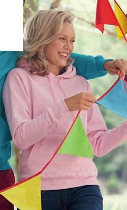 Felpa donna con cappuccio art. 869 con la stampa del tuo logo