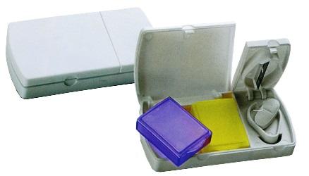 Portapillole in plastica, Art. 403 con il logo della tua azienda