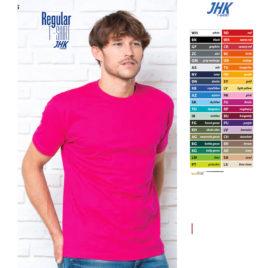 Maglietta JHK Unisex Colorata Art. 257J con la stampa del tuo logo