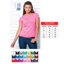 Maglietta JHK Donna Colorata Art. 259J con la stampa del tuo logo