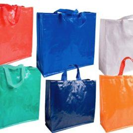 Borsa Shopping in PP Laminato lucido, Art. 281 con stampa logo e grafica personalizzata.