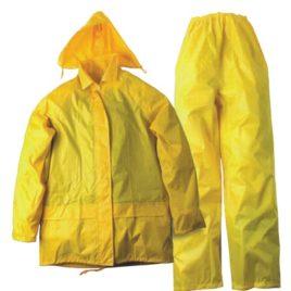 Set pantaloni/giacca antipioggia con cappuccio, art. 286 con la stampa del tuo logo