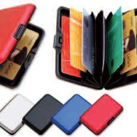 Portacard 6 posti in alluminio, Art. 379 con il logo della tua azienda