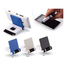 Supporto per cellulare con pulisci schermo, Art. 604 con la stampa del tuo logo