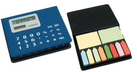 P/foglietti adesivi con calcolatrice, Art. 686 con stampa logo