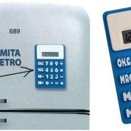Calcolatrice in gomma morbida, Art. 689 con stampa logo