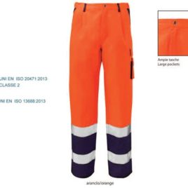 Pantalone bicolore alta visibilità art. lv35 con la stampa del tuo logo.