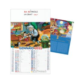 Calendario Favole 12 fogli figurativo, Art. 42 grafica testata personalizzabile
