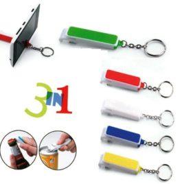 Portachiavi 3 in 1, Art. 517 con la stampa del tuo logo