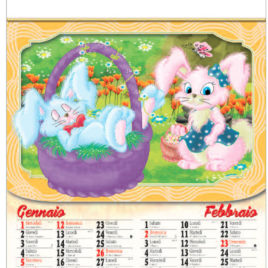 Calendario cartoons 6 fogli, Art. 33 personalizzabile