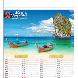 Calendario Paesaggi tropicali, figurato 6 fogli, Art. 09 grafica testata personalizzabile