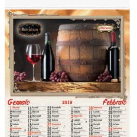Calendario Vini, figurato 6 fogli, Art. 36 grafica testata personalizzabile