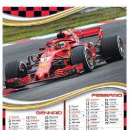 Calendario Formula 1, figurato 6 fogli, Art. 05 grafica testata personalizzabile