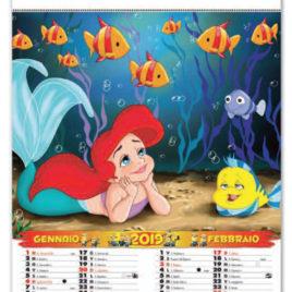 Calendario cartoons 6 fogli, Art. 33 personalizzabile