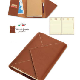 Agenda borsello in cuoio con la stampa del logo della tua azienda,  Art. A53