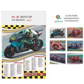 Calendario Moto GP, figurato 6 fogli, Art. 06 grafica testata personalizzabile