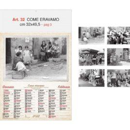 Calendario Come Eravamo 6 fogli, Art. 32 personalizzabile