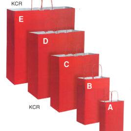 Sacchetto shopper carta kraft a fondino pieno con manico ritorto, Art. KCRC con stampa logo
