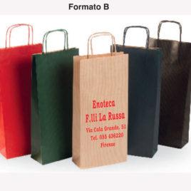 Sacchetto shopper portabottiglie colorato, Art. SCPBC con stampa logo