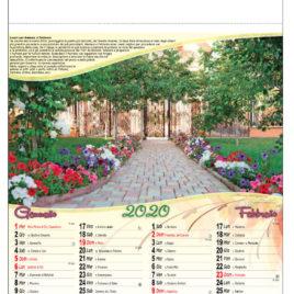 Calendario Giardini, figurato 6 fogli, Art. 10 grafica testata personalizzabile