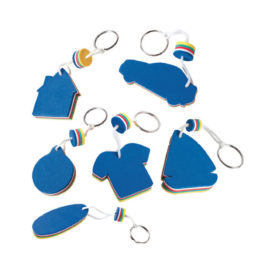 Portachiavi galleggiante blu/giallo vari modelli con la stampa del tuo logo  Art. 570
