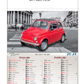 Calendario Auto D'epoca, figurato 6 fogli, Art. 07 grafica testata personalizzabile