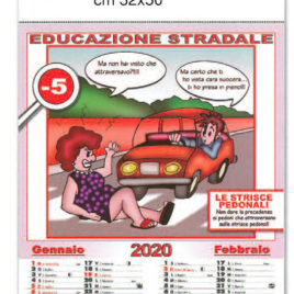 Calendario Educazione Stradale, figurato 6 fogli, Art. 08 grafica testata personalizzabile