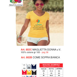 Maglietta Fruit of the loom art. 802 con la stampa del tuo logo