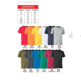 Maglietta Unisex Art. 939 con la stampa del tuo logo