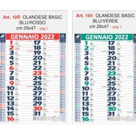 Calendario basic  Art. 19, testata personalizzata