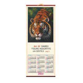 Calendario in bambù figure assortite, Art. 62 personalizzabile